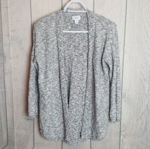 Old Navy Gray Knit Open Cardigan Sweater